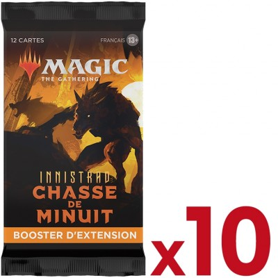 Booster Magic the Gathering Innistrad : chasse de minuit - Booster d'Extension - Lot de 10