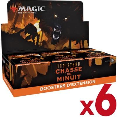 Boite de Boosters Magic the Gathering Innistrad : chasse de minuit  - 30 Boosters d'Extension - Lot de 6