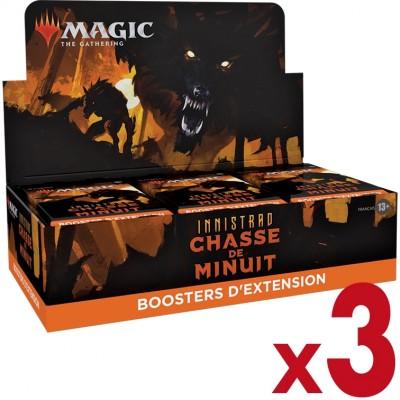 Boite de Boosters Magic the Gathering Innistrad : chasse de minuit  - 30 Boosters d'Extension - Lot de 3