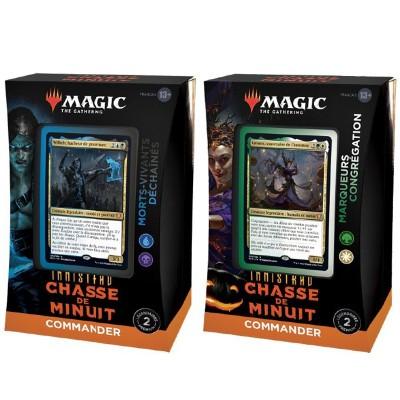 Deck Magic the Gathering Innistrad : chasse de minuit - Commander - Lot de 2 différents
