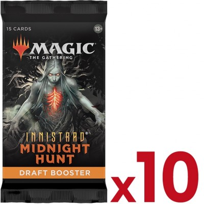 Booster Magic the Gathering Innistrad: Midnight Hunt - Draft Booster - Lot de 10