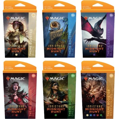 Booster Magic the Gathering Innistrad: Midnight Hunt - Theme Boosters - Lot de 6