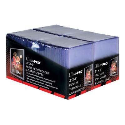 """Protèges Cartes  3"""" X 4"""" Clear Regular Toploader par 200 + Protèges Cartes / pochettes - Soft - Très souples par 200"""