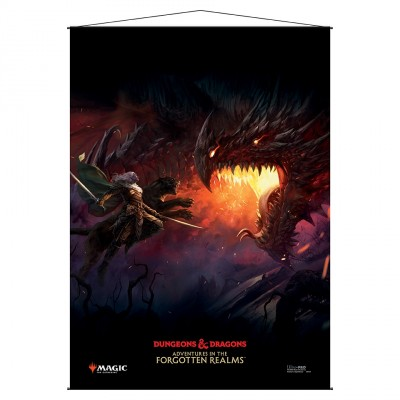 Décoration Magic the Gathering Forgotten Realms : Aventures dans les Royaumes Oubliés - Wall Scroll -  Drizzt Key