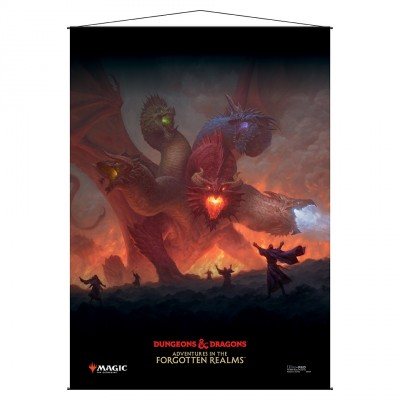 Décoration Magic the Gathering Forgotten Realms : Aventures dans les Royaumes Oubliés - Wall Scroll -  Tiamat