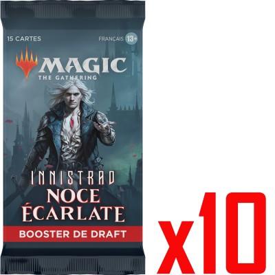Booster Magic the Gathering Innistrad : Noce Écarlate - Booster de draft - Lot de 10