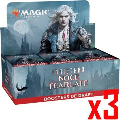 Boite de Boosters Magic the Gathering Innistrad : Noce Écarlate - 36 Boosters de draft - Lot de 3