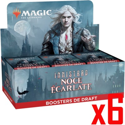Boite de Boosters Magic the Gathering Innistrad : Noce Écarlate - 36 Boosters de draft - Lot de 6