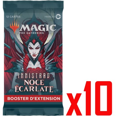 Booster Magic the Gathering Innistrad : Noce Écarlate - Booster d'Extension - Lot de 10