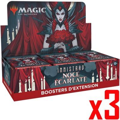 Boite de Boosters Magic the Gathering Innistrad : Noce Écarlate - 30 Boosters d'Extension - Lot de 3