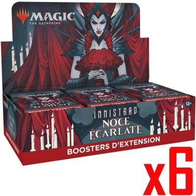 Boite de Boosters Magic the Gathering Innistrad : Noce Écarlate - 30 Boosters d'Extension - Lot de 6