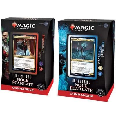 Deck Magic the Gathering Innistrad : Noce Écarlate - Commander - Lot de 2 différents