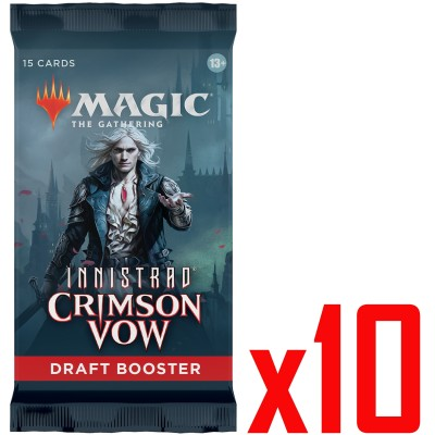 Booster Magic the Gathering Innistrad: Crimson Vow - Draft Booster - Lot de 10