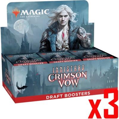 Boite de Boosters Magic the Gathering Innistrad: Crimson Vow - 36 Draft Boosters - Lot de 3