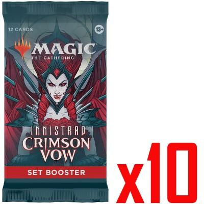Booster Magic the Gathering Innistrad: Crimson Vow - Set Booster - Lot de 10