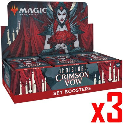Boite de Boosters Magic the Gathering Innistrad: Crimson Vow - 30 Set Boosters - Lot de 3