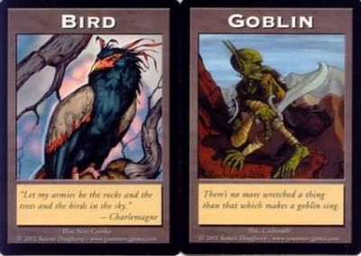 Tokens Magic Magic the Gathering Double Token/Jeton - Bird / Goblin