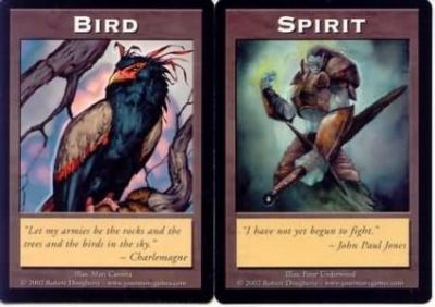 Tokens Magic Magic the Gathering Double Token/Jeton - Bird / Spirit