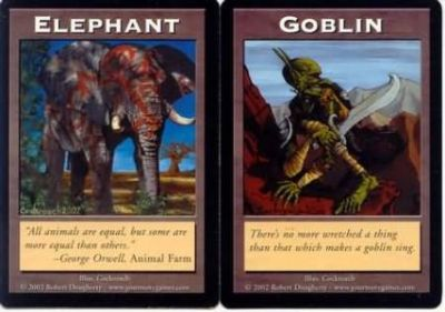 Tokens Magic Magic the Gathering Double Token/Jeton - Elephant / Goblin