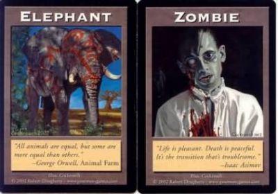 Token Magic Double Token/Jeton - Elephant / Zombie