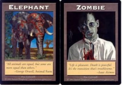 Tokens Magic Accessoires Pour Cartes Double Token/Jeton - Elephant / Zombie