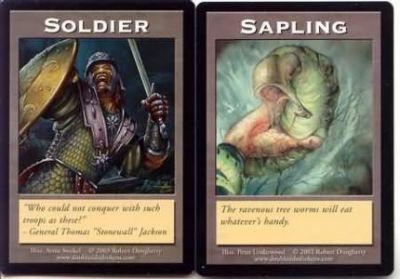 Tokens Magic Accessoires Pour Cartes Double Token/Jeton - Sapling / Soldier