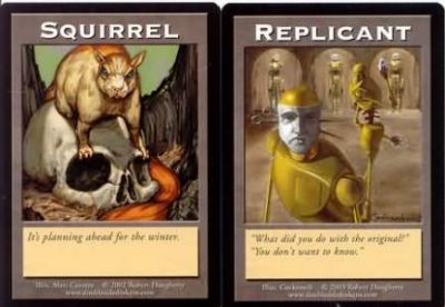Tokens Magic Magic the Gathering Double Token/Jeton - Squirrel / Replicant