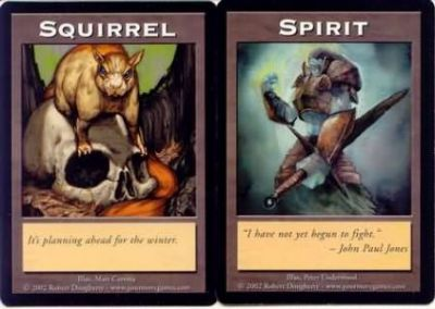 Tokens Magic Magic the Gathering Double Token/Jeton - Squirrel / Spirit