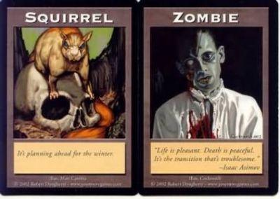 Tokens Magic Double Token/Jeton - Squirrel / Zombie