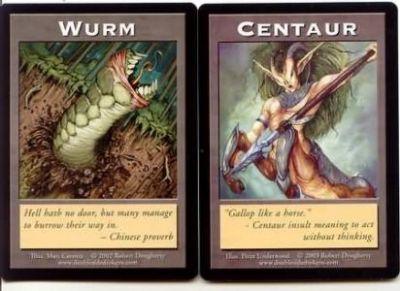 Token Magic Double Token/Jeton - Wurm / Centaur