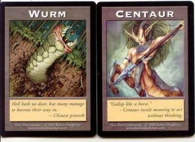 Tokens Magic Magic the Gathering Double Token/Jeton - Wurm / Centaur