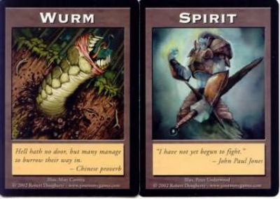 Token Magic Magic the Gathering Double Token/Jeton - Wurm / Spirit