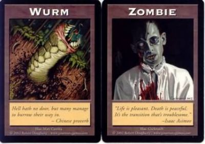 Token Magic Double Token/Jeton - Wurm / Zombie