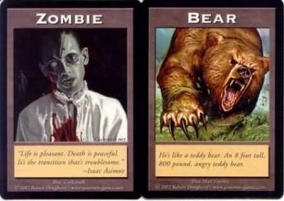 Token Magic Magic the Gathering Double Token/Jeton - Zombie / Bear
