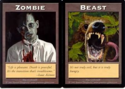 Tokens Magic Magic the Gathering Double Token/Jeton - Zombie / Beast