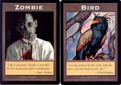 Tokens Magic Accessoires Pour Cartes Double Token/Jeton - Zombie / Bird