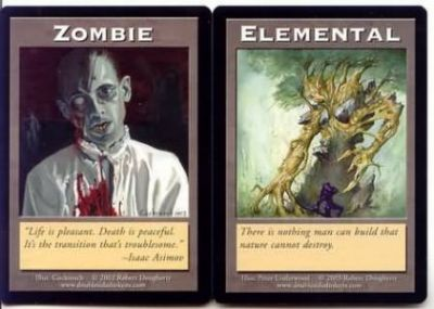 Tokens Magic Magic the Gathering Double Token/Jeton - Zombie / Elemental