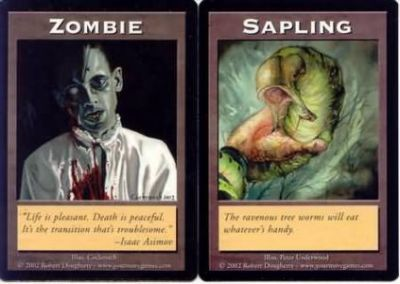 Tokens Magic Magic the Gathering Double Token/Jeton - Zombie / Sapling