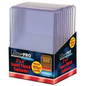 """Protèges Cartes Accessoires Pour Cartes 10 Toploader Ultra Pro - 3"""" x 4"""" (63.5mm x 88.9mm) Super Thick - Clear - ACC"""